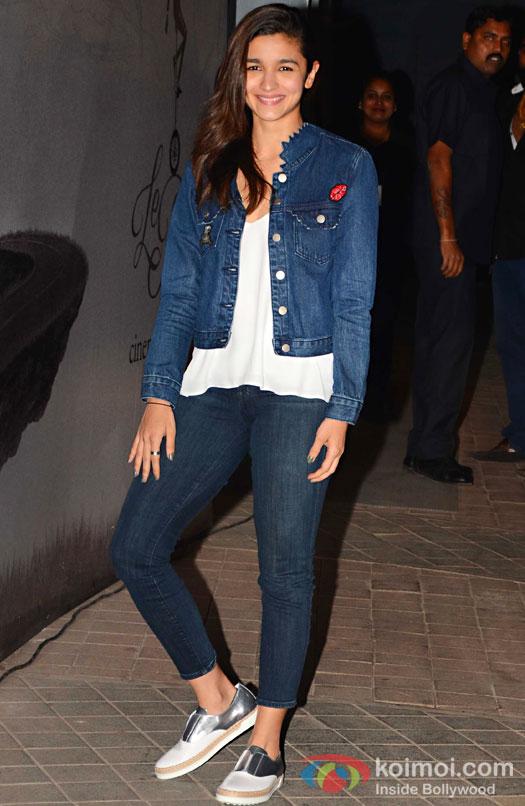 Alia Bhatt during the screening of OK Jaanu