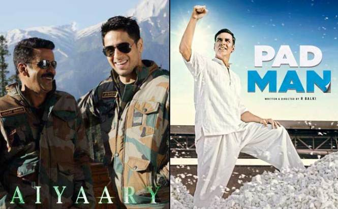 Sidharth Malhotra's Aiyaary & Akshay Kumar's Padman To Be The First Clash Of 2018