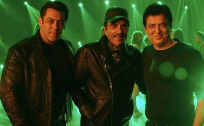 Salman Khan, Dharmendra and Sajid Nadiadwala