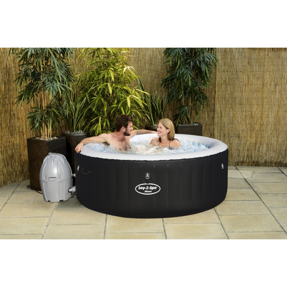 Jacuzzi Spa Gonflable Spa Gonflable 2/4 Places - Lay-z-spa Rond - Miami Air Jet