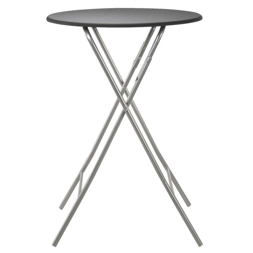 Bar Escamotable Table De Bar Asten Escamotable Noir Ø80x112 Cm