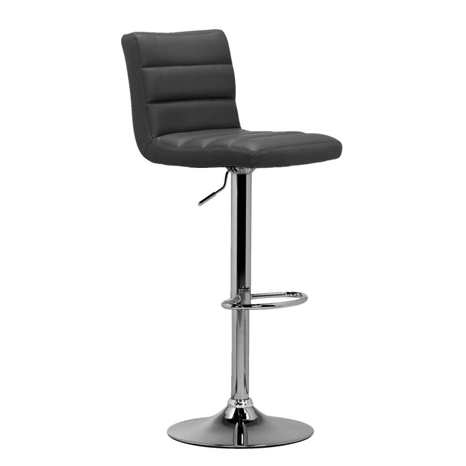 Tabourets Couleur Tabouret De Bar Leeds Gris Couleur Chrome