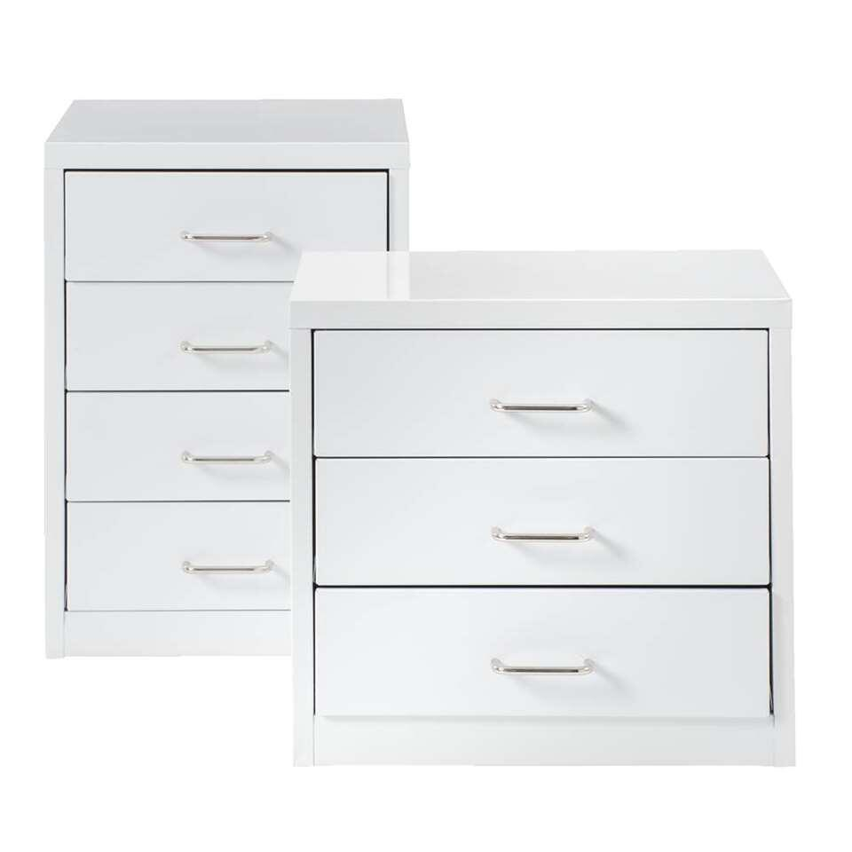 Commode Vetements Commode Melody Blanc 3 Tiroirs