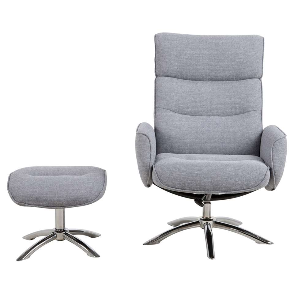 Fauteuil Repose Pied Fauteuil Relax Moland Avec Repose Pied Gris Clair