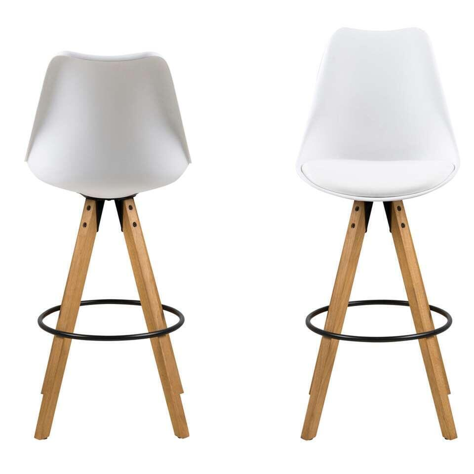 Tabouret Bar Plastique Tabouret De Bar Verdal Plastique Blanc Le Lot De 2