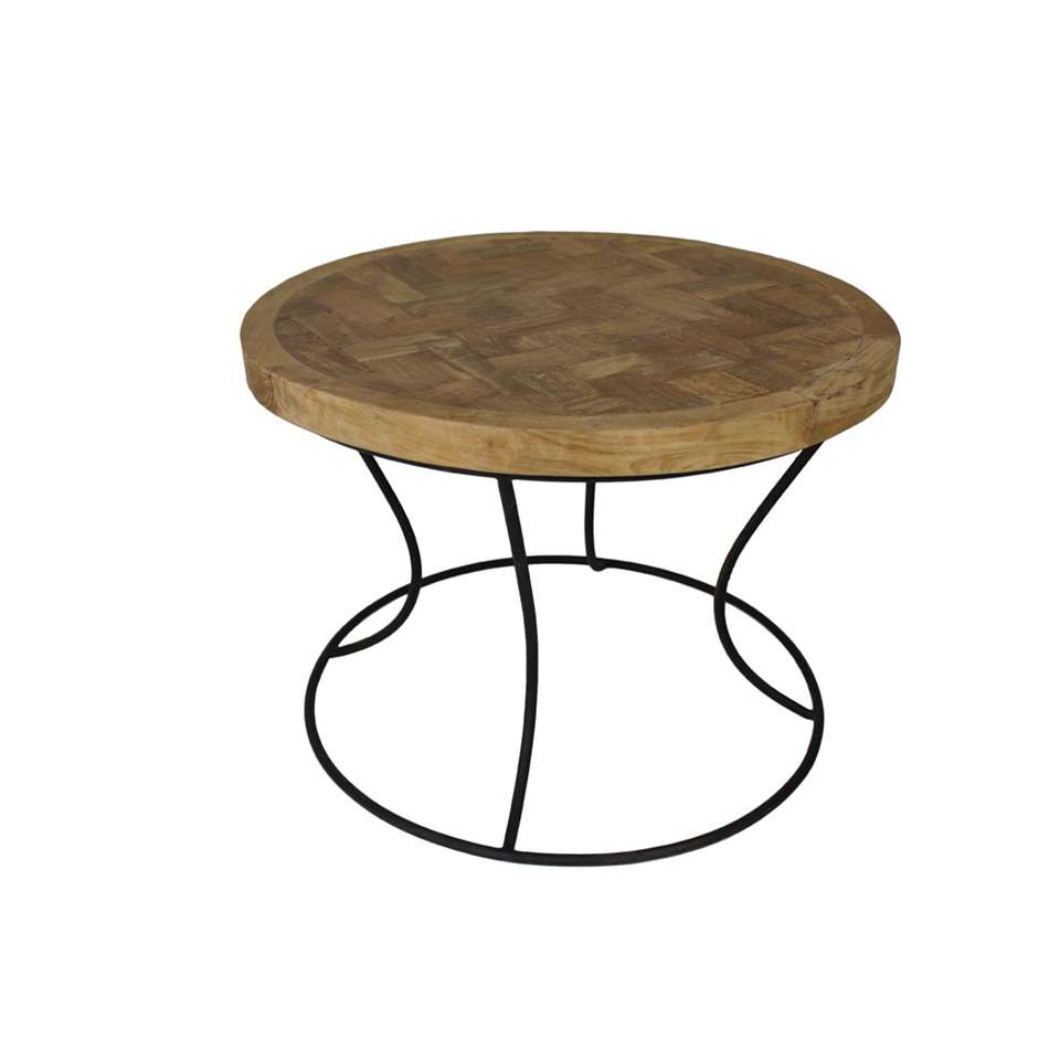Tables Basses Rondes De Salon Hsm Collection Table Basse Ronde Blanc 60x60x44 Cm