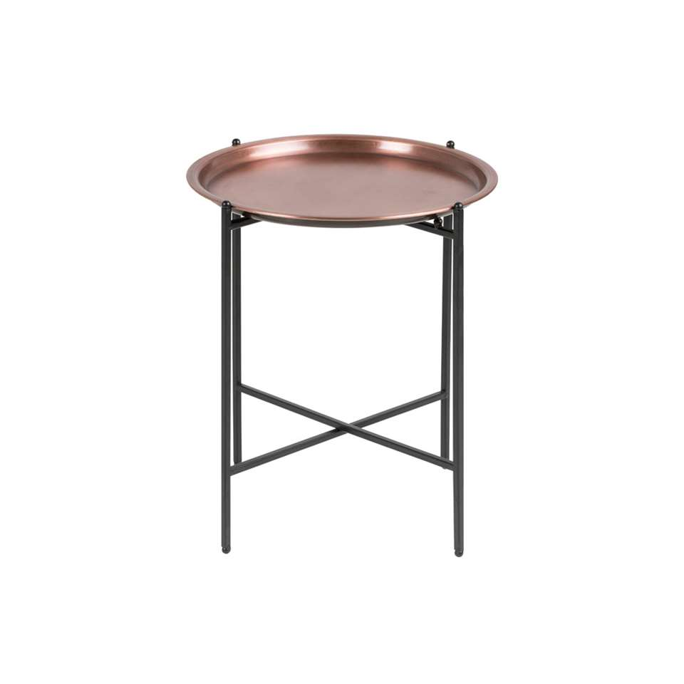 Table De Chavet Table De Chevet Taby Couleur Cuivre 48xØ39 5 Cm