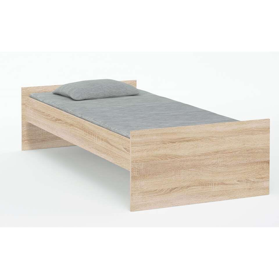 Houten Bed 1 Persoons Bed Sydney Wit 90x200 Cm