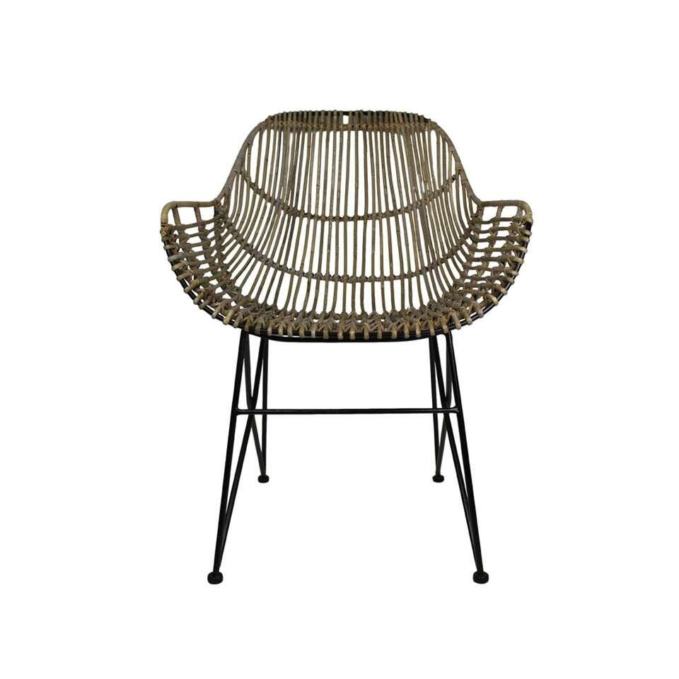 Wicker Stoelen Leen Bakker Hsm Collection Eetkamerstoel Openweaving Rotan