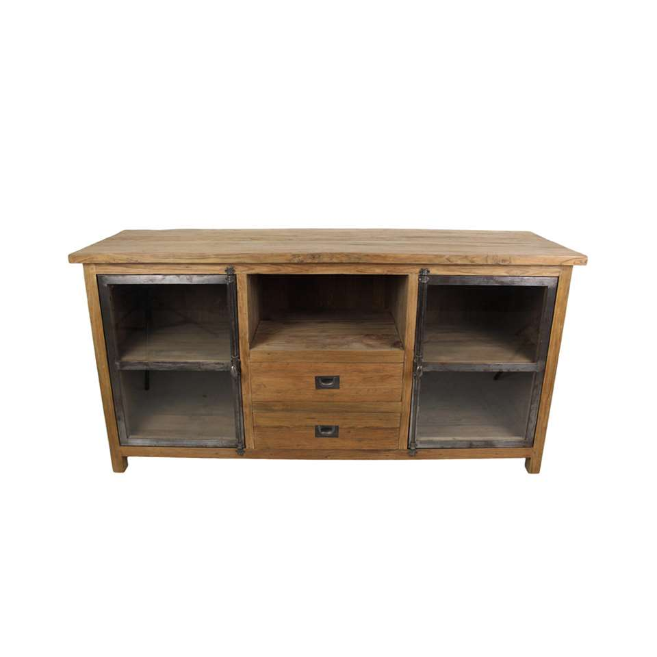 Meuble Vynil Hsm Collection Tv Meubel Dingklik Bruin 160x50x80 Cm