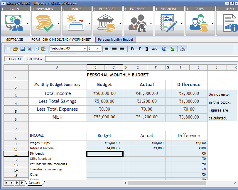 personal budgeting freeware