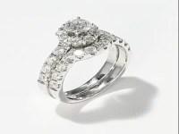 Leo Diamond Bridal Set|2 ct tw Round-cut|14K White Gold ...