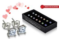 7pc Stud Earrings Set Made w/ Crystals from Swarovski ...