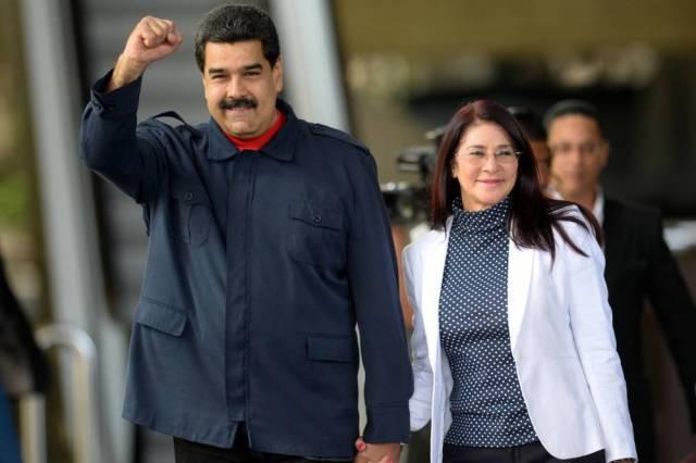 VENEZUELA-ANNIVERSARY-CHAVEZ-MADURO-FLORES © FEDERICO PARRA / AFP