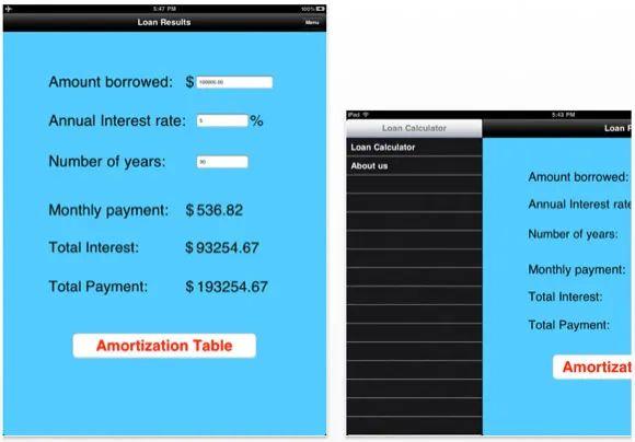 simple loan calculator app