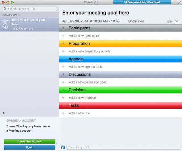 Meetings vs Meetings Two Mac Applications for Managing Agendas and - how to create a agenda