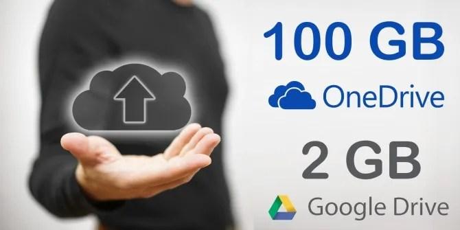 Free Cloud Storage Upgrades Grab 100GB of OneDrive  2GB of Google