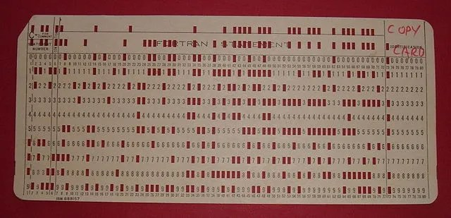 From Punch Cards to Holograms - A Short History of Data Storage - punch cards