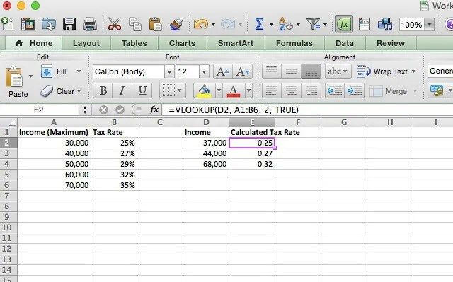 Doing Your Taxes? 5 Excel Formulas You Must Know - Income Tax Calculator