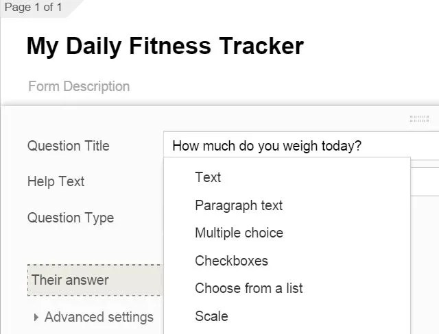 Track Key Areas of Your Life In 1-Minute with Google Forms
