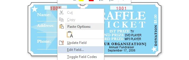 How to Get a Free Raffle Ticket Template for Microsoft Word - numbering tickets in word