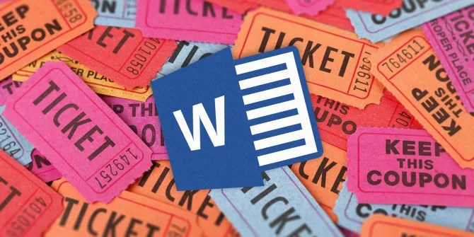 How to Get a Free Raffle Ticket Template for Microsoft Word - raffle ticket