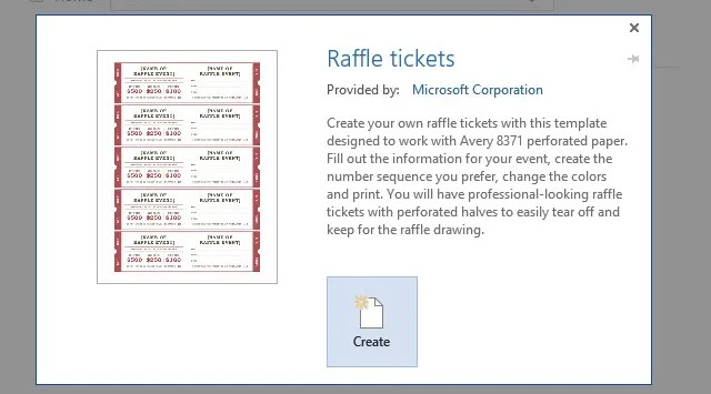 How to Get a Free Raffle Ticket Template for Microsoft Word - print raffle tickets free online