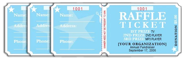 How to Get a Free Raffle Ticket Template for Microsoft Word - Free Ticket Template Printable