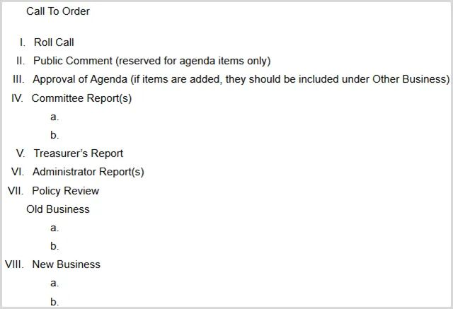 client meeting agenda template