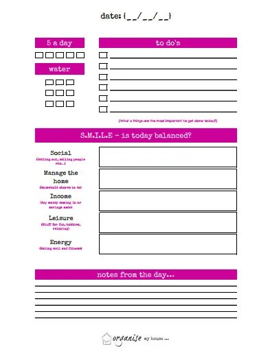 10 Free Printable Productivity Planner Templates