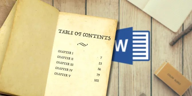 How to Create a Table of Contents in Word  Free Templates