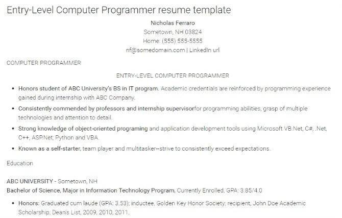 How to Write the Perfect Resume for a Programming Job - monster resume tips