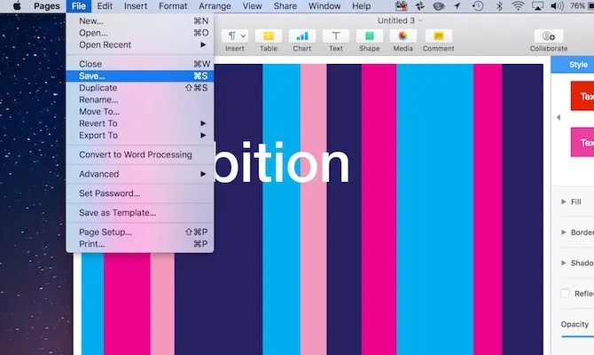 How to Create Impressive Pages Documents and Templates on Mac - word document templates for mac
