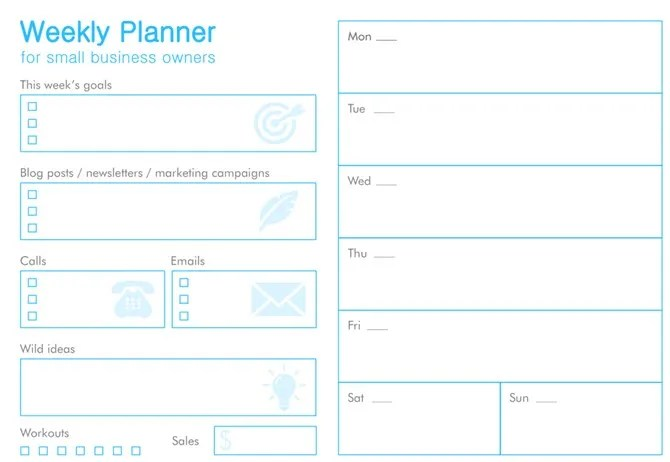 11 Free Printable Planners That Every Office Worker Needs - Free Printable Weekly Planner