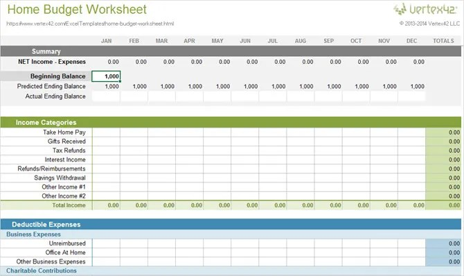 10 More Spreadsheet Templates to Manage Your Money - home budget spreadsheet