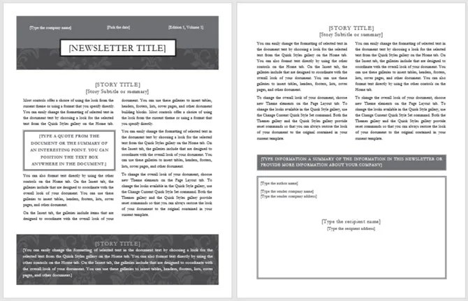 13 Free Newsletter Templates You Can Print or Email as PDF - Newsletter Format
