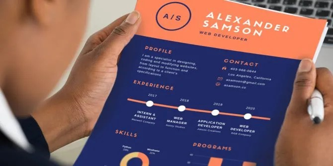 12 Easy, Attractive, and Free Infographic Resume Templates - Attractive Resume Templates