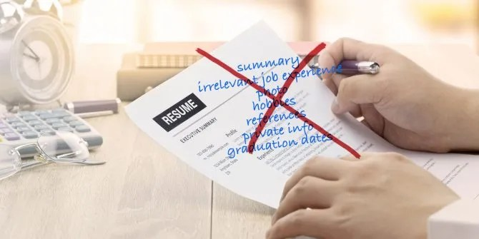 10 Things You Should NOT Put on Your Resume