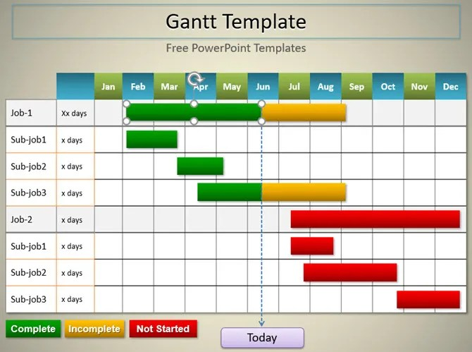 Need a Gantt Chart Template for Excel or PowerPoint? Here Are 10 - general color chart template