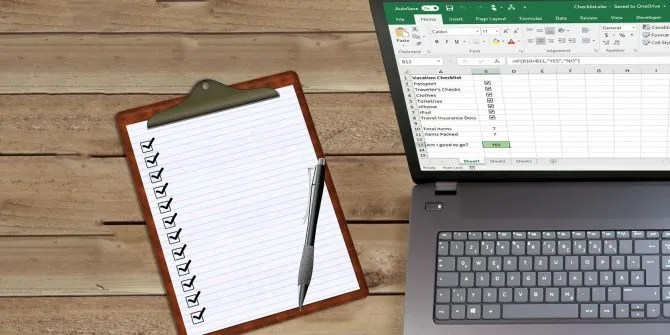 How to Create a Checklist in Excel - Excel Check List
