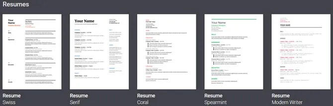6 Google Docs Resume Templates for All Styles and Preferences - Resume Google Docs