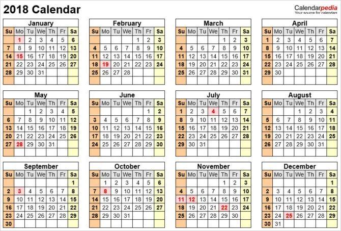 calendar template ms office