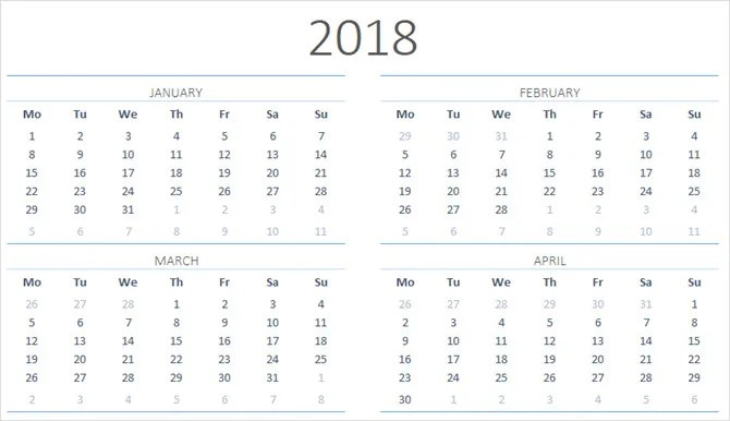 The Best Free Microsoft Office Calendar Templates for Staying Organized - yearly calendar