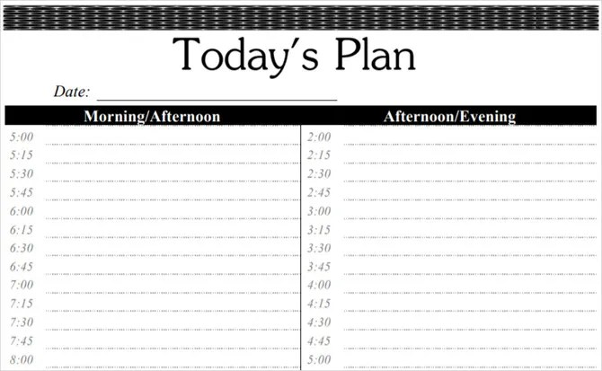 These Time Blocking Free Printable Planners Will Help You Avoid - day to day planner template free