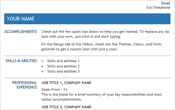 20 Free Resume Templates for Word That\u0027ll Help You Land a Job - How To Do A Resume On Microsoft Word
