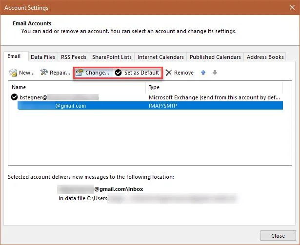 setup outlook with gmail