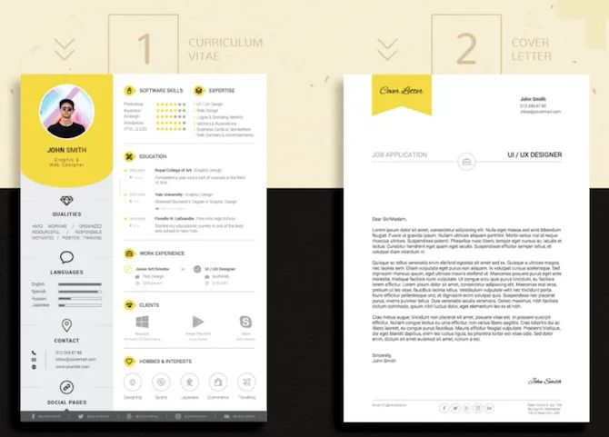 cv indesign template