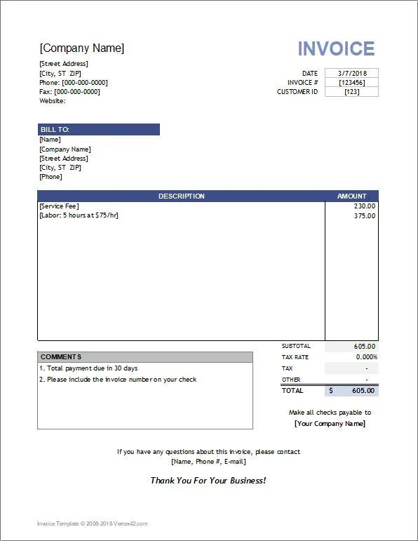 invoice smaple
