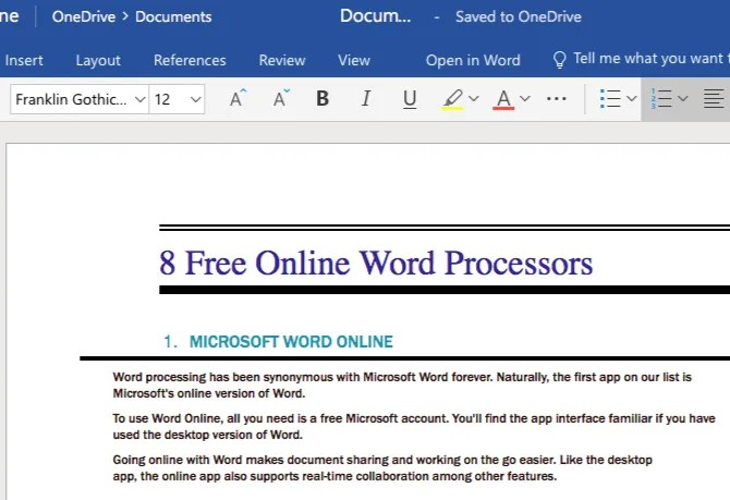 The 8 Best Free Online Word Processors