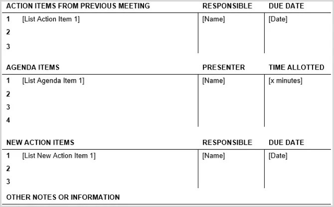 The 15 Best Meeting Agenda Templates for Microsoft Word - I Best ICO